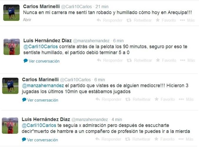 Un partido de la Copa Perú ameritaba este termismo via Twitter. Aguante todo.