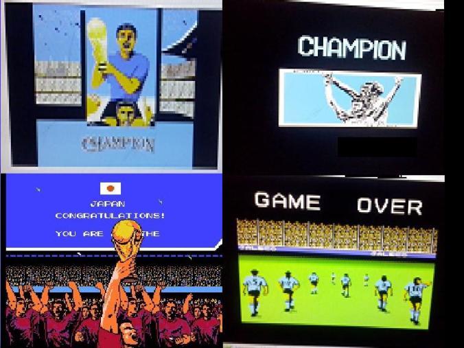 Finales de ambos juegos.