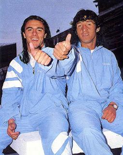 El Piojo y el Lagarto: los melenudos delanteros de Racing.