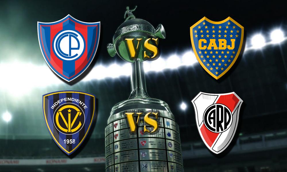 Independiente del Valle vs River y Cerro Porteo vs Boca  La