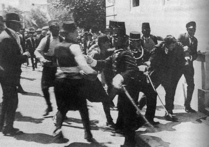 El arresto de Princip
