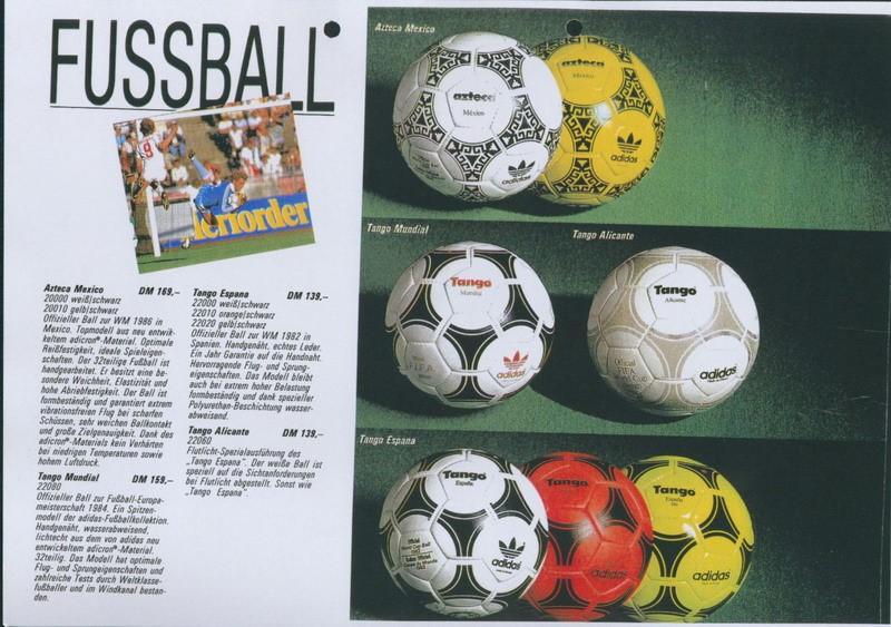 Catálogo de Adidas de 1986 donde salen las bochas. NO MIREN LAS DE ARRIBA PORQUE ES ALTO SPOILER (?)