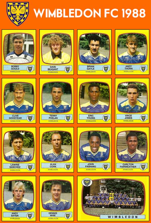 WIMBLEDON-FC-1988-Panini-Crazy-Gang